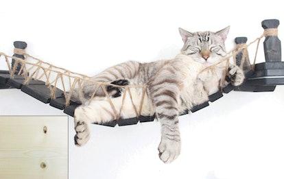 CatastrophiCreations Cat Mod Handcrafted Wall-Mounted Cat Bridge Shelf