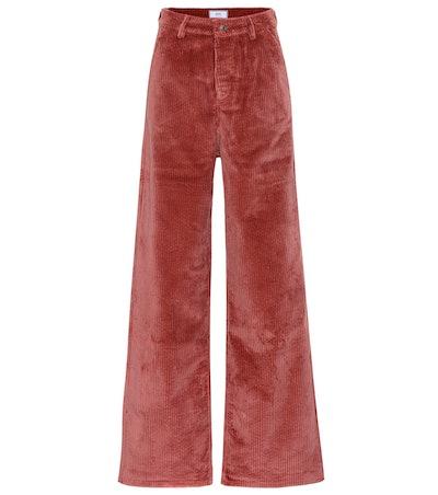 High-Rise Wide-Leg Corduroy Pants