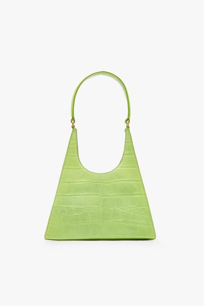 Ray Bag Pistachio Croc Embossed