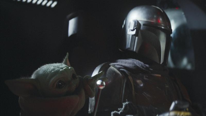 Baby Yoda and Mando In The Mandalorian