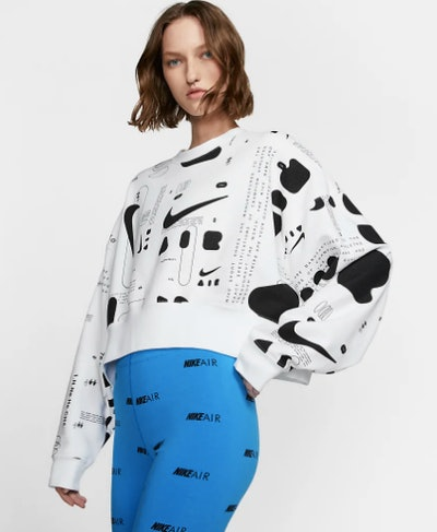 Women's Printed Fleece Crew Nike Air
