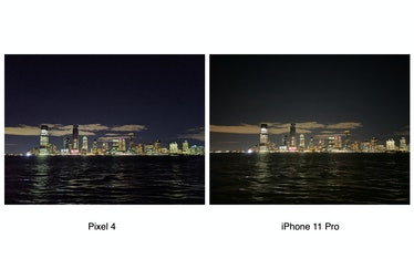 Pixel 4 vs. iPhone 11 Pro night shot