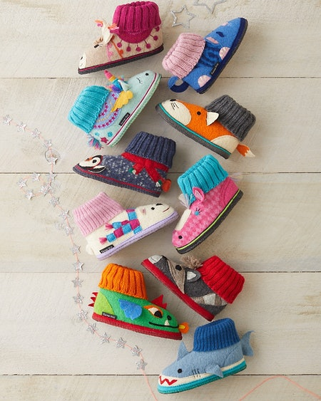 Kids' Boiled Wool Slippers
