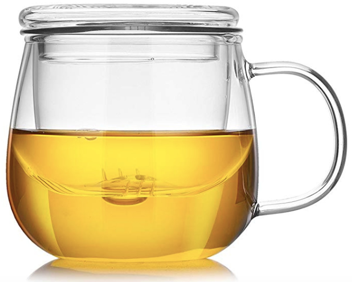 Cupwind 17 Ounce Glass Tea Cup With Lid