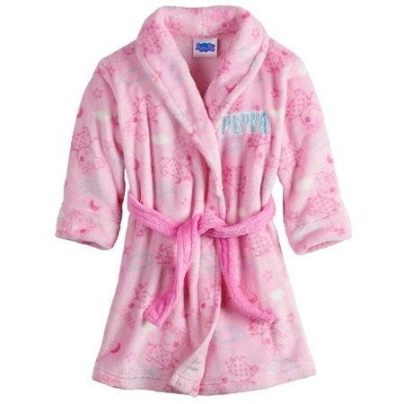 Peppa Pig Toddler Girls Plush Fleece Bathroom Robe