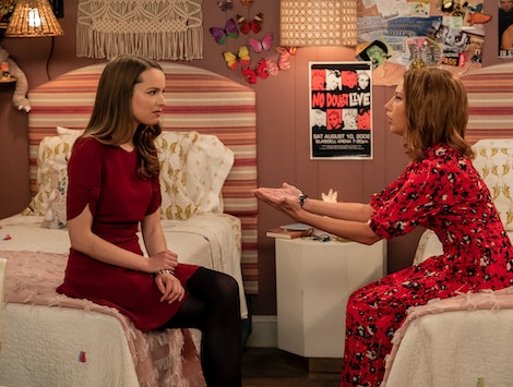 Ashley Tisdale and Bridgit Mendler play sisters in Netflix's Merry Happy Whatever
