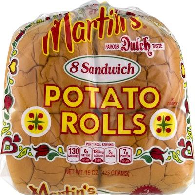 Martin's Potato Sandwich Rolls- 8pk 15 oz (2 Bags)