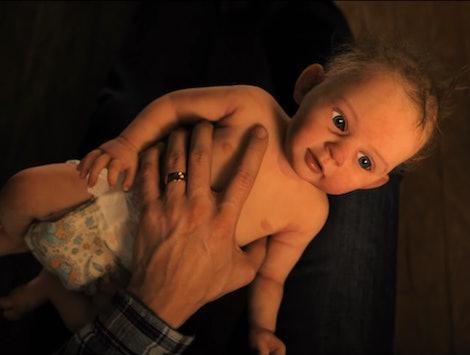 The creepy baby in 'Servant'