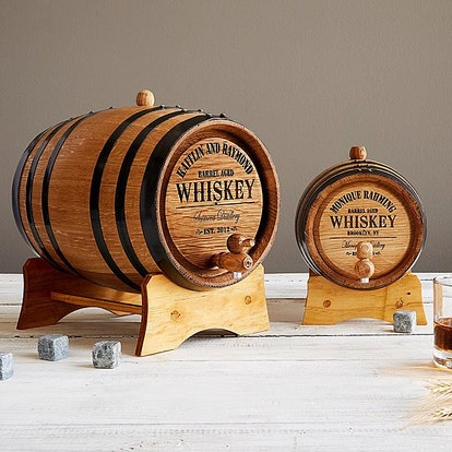 Personalized Whiskey Barrel & Brewing Kit