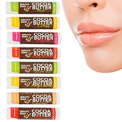 Nature's Bees 8-Pack Cocoa Butter Lip Balm