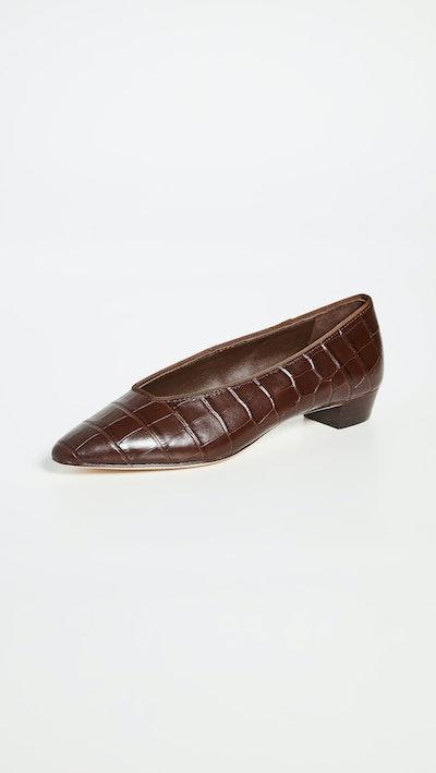 Simone Croc Flats
