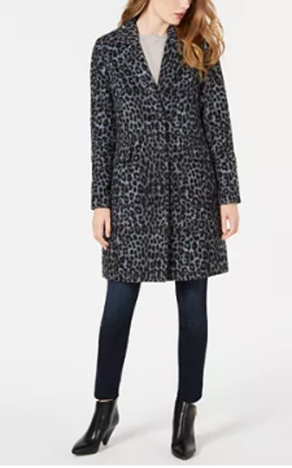 BCBGeneration Leopard Print Walker Coat