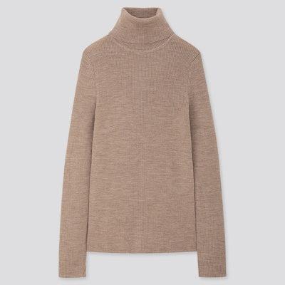 Extra Fine Merino Ribbed Turtleneck Sweater