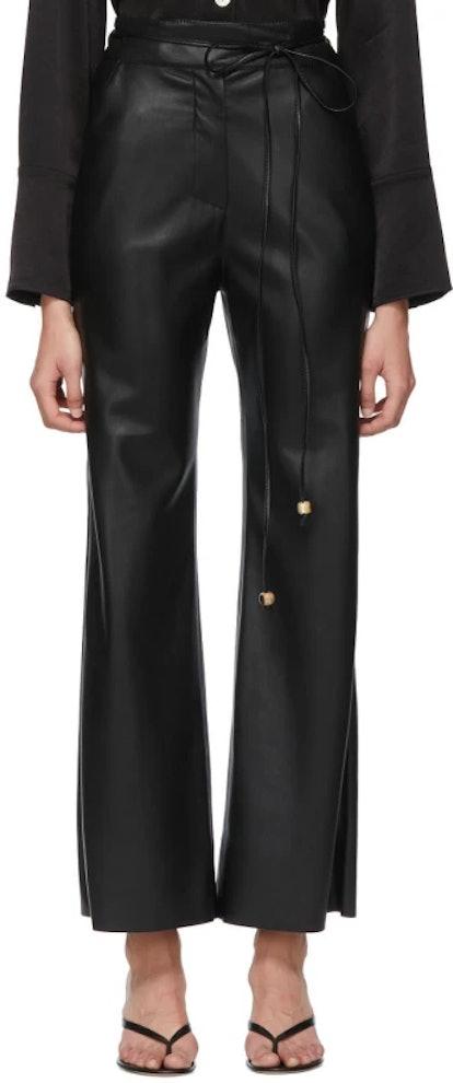 Black Vegan Leather Chimo Trousers