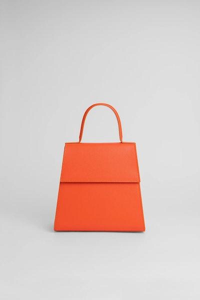 Monet Orange Leather Bag