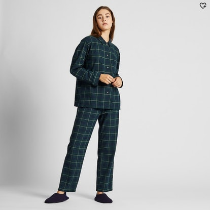 Women Stretch Flannel Long-Sleeve Pajamas