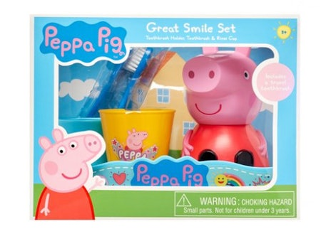 Peppa Pig 3-Piece Great Smile Toothbrush and Holder Set