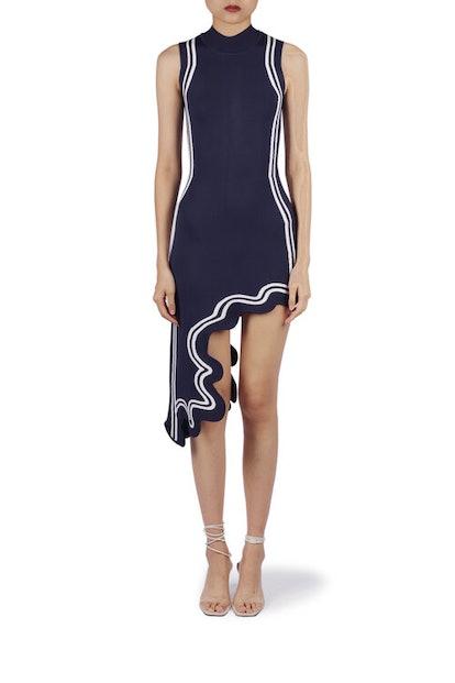 Frida Wavy Asymmetric Dress