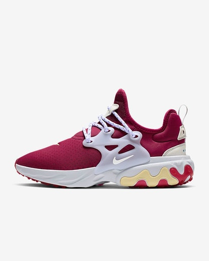 Nike React Prestos in Noble Red/Photo Blue/Bicycle Yellow/White