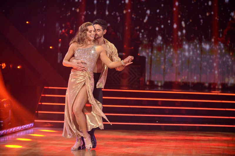 Hannah Brown and Alan Bersten share the floor on 'Dancing with the Stars.'