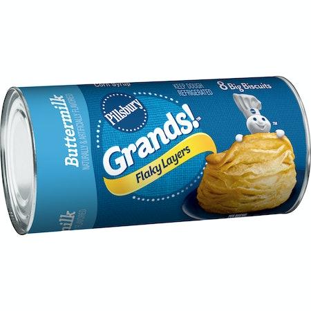 Pillsbury Grands! Flaky Layers Buttermilk Biscuits, 8 Ct, 16.3 oz