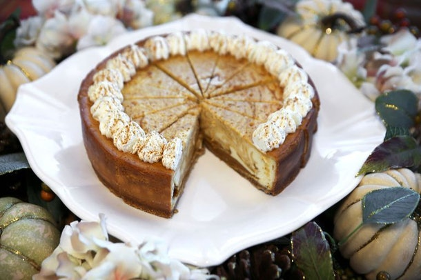 Costco's 5-Pound Pumpkin Cheesecake is pretty similar to the Sam's Club offering.