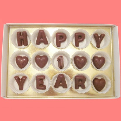 Happy 1 Year Large Milk Chocolate Letters by What Candy Says