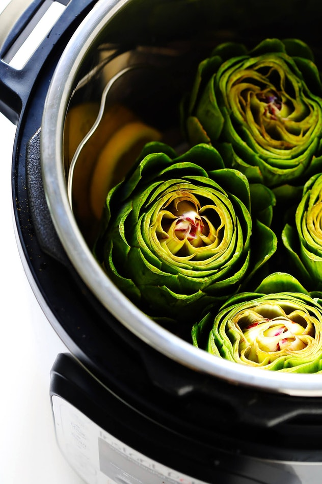 Steamed Artichokes is a delicious side dish Instant Pot recipe for Friendsgiving 2019 you can make in a snap.