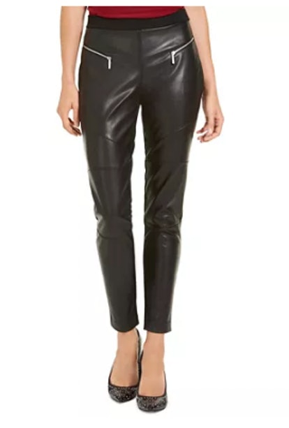 MICHAEL Michael Kors Faux Leather Moto Leggings