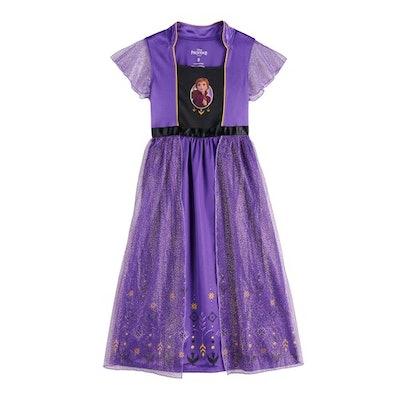 Disney's Frozen 2 Anna Girls 4-8 Fantasy Gown Nightgown