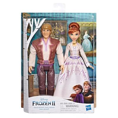 Disney Frozen 2 Anna and Kristoff Fashion Dolls 2pk
