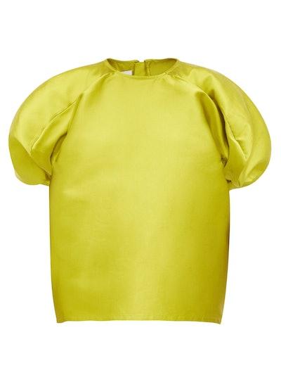 Blouson-Sleeve Faille Top