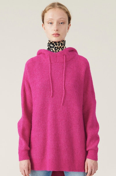 Soft Wool-Knit Hoodie
