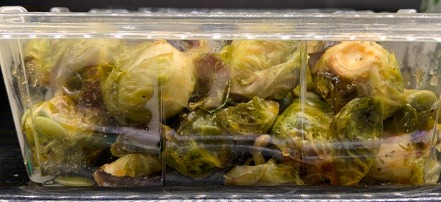 Cider Roasted Brussels Sprouts With Pepitas from Whole Foods