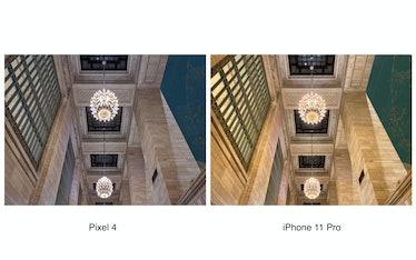 Google Pixel 4 vs. iPhone 11 Pro low-light camera comparison