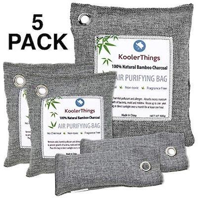 KoolerThings Bamboo Charcoal Air Purifying Bag (5-Pack)