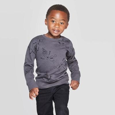 Toddler Boys' Frozen Olaf Embroidery Sweatshirt