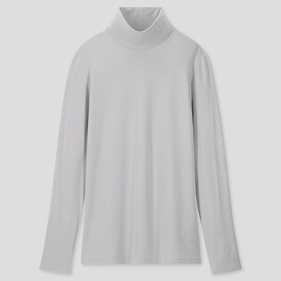 HEATTECH Extra Fine Ribbed High-Neck T-Shirt