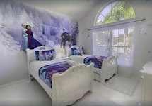 Twin beds for twin princesses in Kissimmee, FL