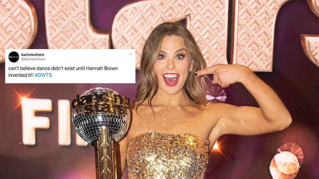 Tweet about Hannah Brown winning 'DWTS' & photo of Hannah Brown