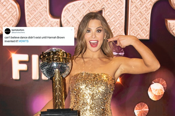 Tweet about Hannah Brown winning 'DWTS' & photo of Hannah Brown