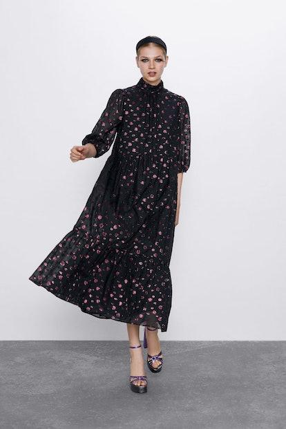 Voluminous Midi Dress