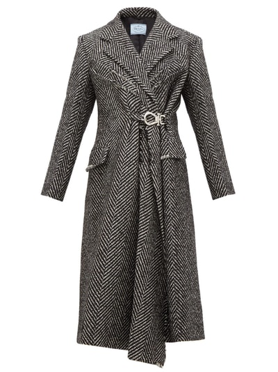 Gathered Wool Coat