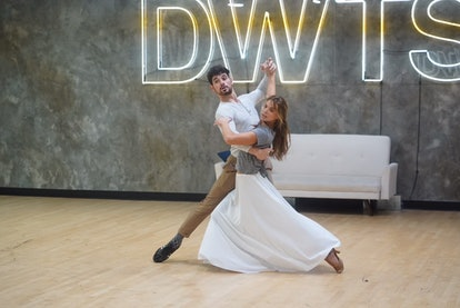 Hannah Brown and Alan Bersten practice the Viennese waltz for DWTS.