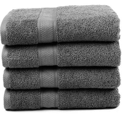 Ariv Collection Premium Bamboo Cotton Bath Towels (Set of 4)