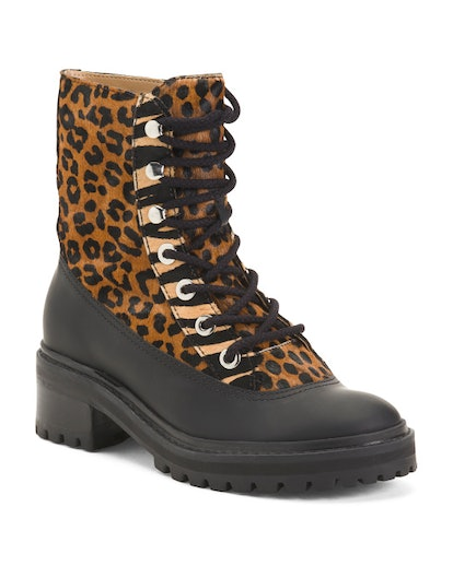 Schutz Haircalf And Waterproof Rubber Lug Sole Boots