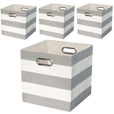 Posprica Storage Bins Storage Cubes, 11 by 11 inches (4-Pack)