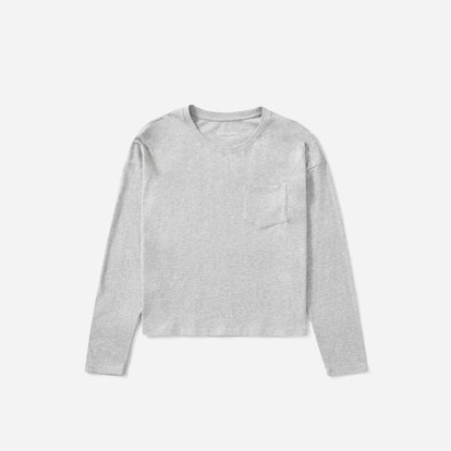 The Long-Sleeve Box-Cut Pocket Tee