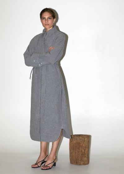 Grey Shirt Silhouette Coat
