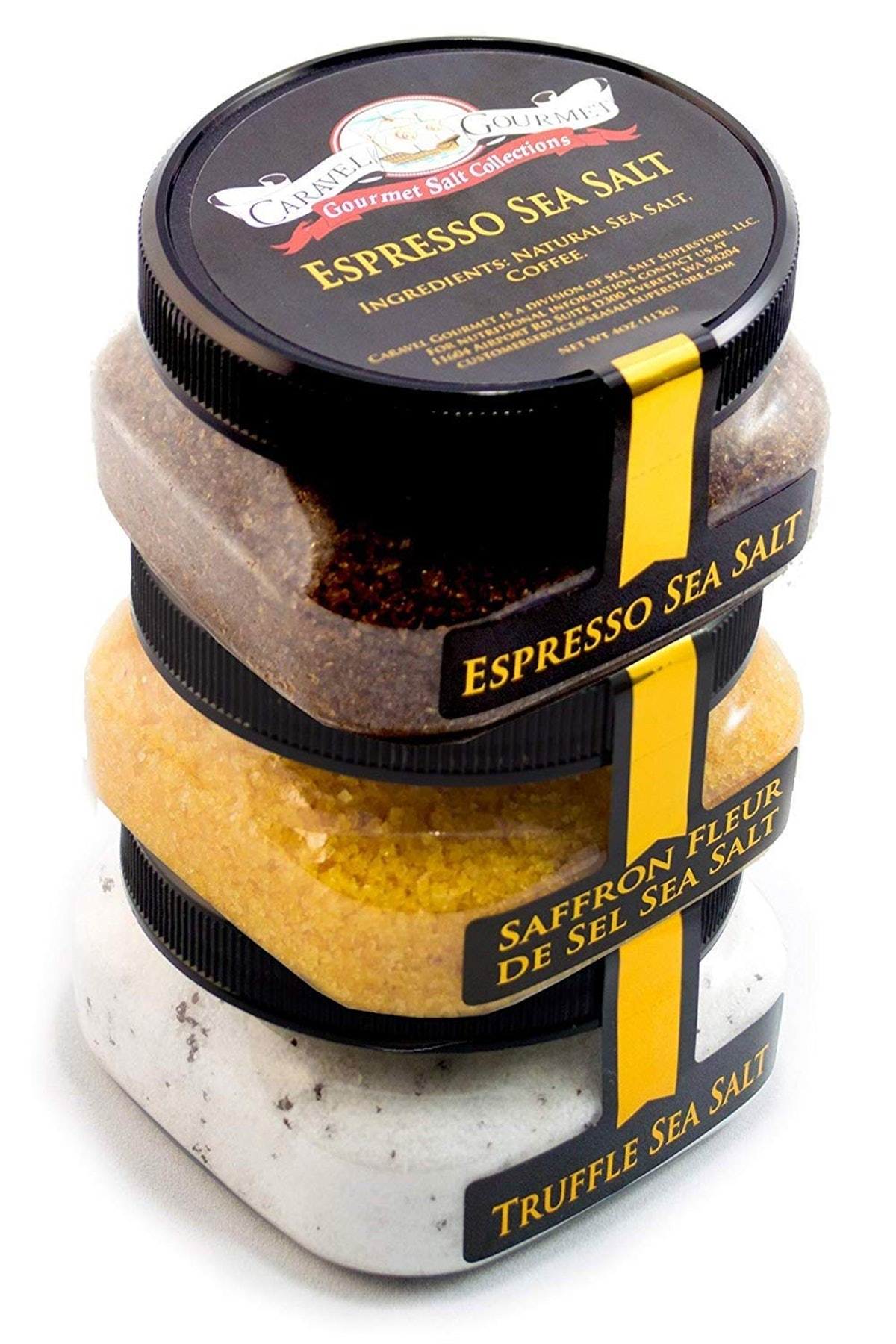 Caravel Gourmet Exotic Sea Salt Collection (3-Pack)